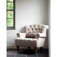 This Gorgeous Neutral Linen Armchair Would Work With Most Room Schemes. It  Has A Deep Seat Which Makes It The Perfect Armchair To Curl Up On.