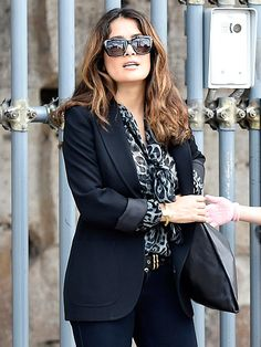 Star Tracks: Friday, May 2, 2014 | PLAYING TOURIST | So much to see! A stylish Salma Hayek goes sightseeing with husband François-Henri Pinault and daughter Valentina (not pictured) in Italy on Thursday, where they viewed the Colosseum and shopped for souvenirs.