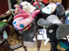 Artisan-made puppets for imaginative play!