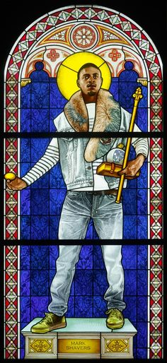 Kehinde Wiley - Contemporary Artist - Figurative & Rococo Painting - Urban Renaissance - Stained Glass 2014