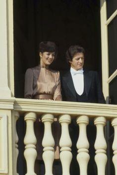 Princess Caroline and Philippe Junot.Monaco National Day,19th November,1978.