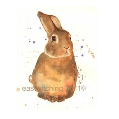 BUNNY Watercolor Art Print - I am Benjamin Bunny - this bunny is a little shy and so sometimes he comes across as a bit aloof - please don't overlook him - he is a softie and will snuggle into your arms given a chance. 50 percent going to bunny charit. Bunny Nursery, Nursery Art, Bunny Art, Cute Bunny, Bunny Painting, Benjamin Bunny, Rabbit Art, Bunny Rabbit, Pastel