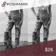 77f4548dc0ecb Hot Sale Summer Women Pants Casual High Waist Flare Wide Leg Long Pants  Palazzo Trousers Floral Plus Size Classic Pant Preppy