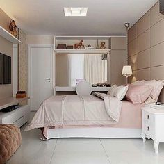 Home & Decor Cute Bedroom Ideas, Cute Room Decor, Girl Bedroom Designs, Small Room Bedroom, Home Bedroom, Bedroom Decor, Bedrooms, Dream Rooms, Dream Bedroom