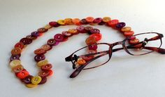 Vintage Button Eyeglasses Chain by MRSButtons on Etsy