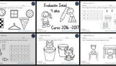 Evaluación inicial Educación Infantil 4 AÑOS curso 2016-2017 Editable