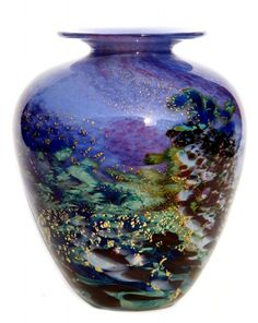 Renoir-vase-RE16-13cm Jonathon Harris JH Studio Glass.. A glorious piece.