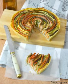 Quiche de verduras en espiral. //  Rolled vegetable pie