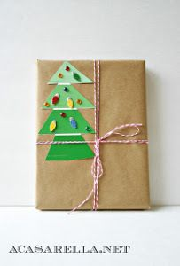 Paint Chip Snowflakes and Trees Gift Tags