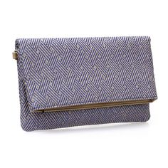 BMC Womens Tan and Khaki Woven Pattern Synthetic Plastic Straw Texture Fold Over Fashion Clutch Handbag