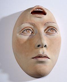 Masterworks: Beverly Mayeri. Open Mind Mask. 1981. (6/4/2011 - Cowan's+Clark+DelVecchio Ceramics Auction)