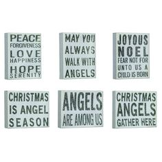 SPARKLING ANGEL CANVAS 6 ASSORTED