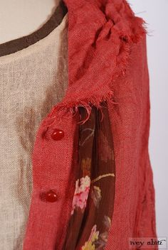 Celia Dress in Raspberry Old World Gauze Linen. Limited Edition 2014 Look No. 5 | Vintage Inspired Women's Clothing - Ivey Abitz
