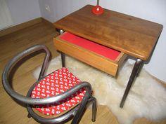 Bureau d'école et sa chaise années 50/60