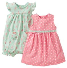 Carters Baby Girls 2 Piece Romper Set...