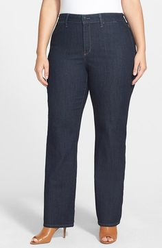 NYDJ 'Isabella' Stretch Trouser Jeans (Dark Enzyme) available at #Nordstrom