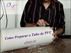 Luminária de PVC passo a passo Preparando o tubo.                              …