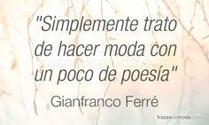 Frase de moda de Gianfranco Ferré