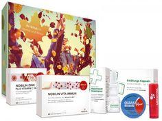 MEDICOM HERBST BOX. 6 Produkte um die Abwehrkräfte zu Stärken. Sag grippe, Schnupfen, Husten und Co Adieu!