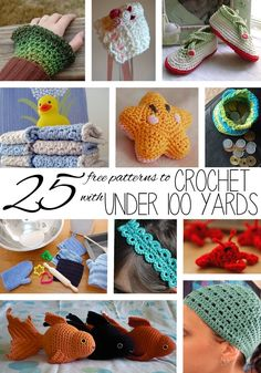 25 Things to Crochet with 100 Yards or Less | Imagine