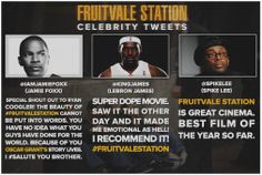 Tweets von Jamie Foxx, Lebron James & Spike Lee über #FruitvaleStation
