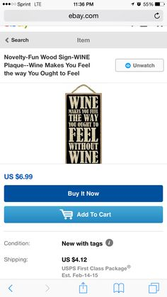 Wine Theme Kitchen, Wine Signs, Wine Making, Make You Feel, Conditioner, Make It Yourself, Feelings, Fun, Gifts