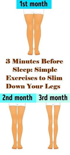 health fitness - 3 Minutes Before Sleep Simple Exercises to Slim Down Your Legs Fitness Workouts, Easy Workouts, Cardio Gym, Dance Workouts, Workout Gear, Herbal Remedies, Health Remedies, Natural Remedies, Health Tips
