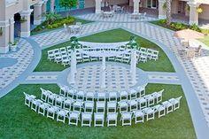 Crowne Plaza Orlando Universal ~ Courtyard Wedding