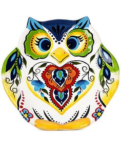 Espana Bocca Figural Owl Salad Plate - Casual Dinnerware - Dining & Entertaining - Macy's