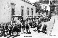 Gente en 1915 en Tequila Jalisco Mexico