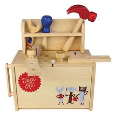 Get the little man (or lady) busy this Xmas!! They will love their own little tool set! Can be packed away in the box - great for travel! 20% OFF in store today only. Online also #shop3280 #shoplocal #woodentoys #toolbench #toolkit #tools #boystoys #warrnambool by loveleelittleones