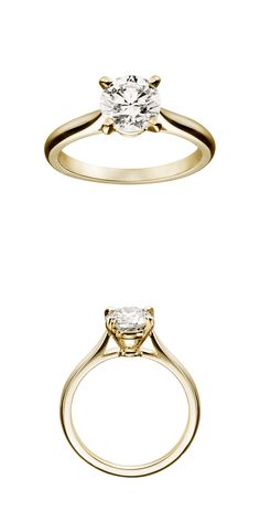 Classic vintage Cartier // Women in Weddings Weigh in on Engagement Rings