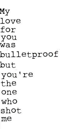 no longer bulletproof