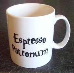 Harry Potter coffee cup, I need this for my morning coffee!!