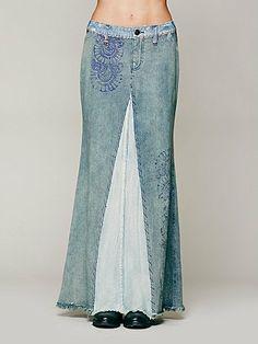 Badlands Denim Maxi Skirt