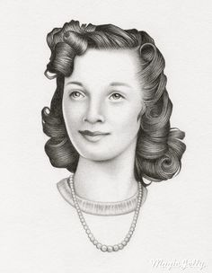 Her name is Violet - graphite on paper (by Karena Colquhoun).