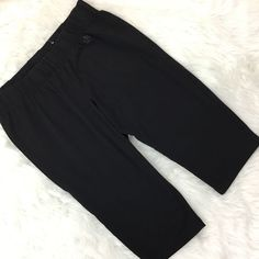 Lane Bryant Active Yoga Pants 14 16 Black Cropped Workout Stretch Cotton Knit   | eBay