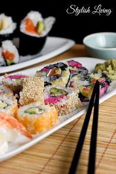 Sushi selbst gemacht! Tolles Rezept.