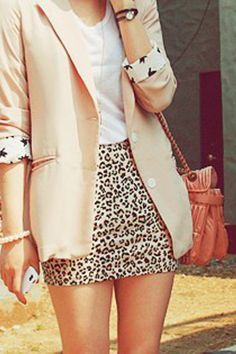 Animal print look! Love leopard? Enter here at www.getgumball.com for a chance to WIN an Urban Outfitters Leopard Double Buckle Backpack #fashion #giveaway