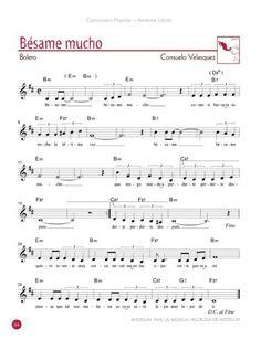 Besame mucho Saxophone Sheet Music, Violin Music, Ukulele Songs, Piano Songs, Jazz Songs, Music Songs, Piano Sheet Music Classical, Trumpet Sheet Music, Accordion Music