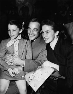 Gene Kelly, Betsy Blair, and daughter Kerry