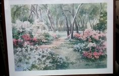 Ruth Basler Burr lithograph (signed in pencil) Country Meadow by AwesomeCEF on Etsy