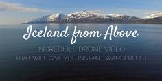 Iceland from above - Incredible Iceland drone video that will give you instant wanderlust. Aerial drone video and photos of rugged and untouched landscapes.