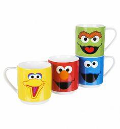 Sesame Street Character Mugs