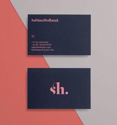 Sabine Holland: Fashion Editor Branding stationary corporate identity business c. Business Card Design Inspiration, Business Design, Logo Inspiration, Business Casual, Classic Business Card, Lawyer Business Card, Minimalist Business Cards, Fashion Logo Design, Fashion Branding