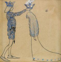 Därefter satte prinsen en krona av guld på hennes huvud