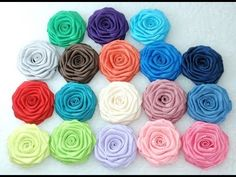 How to make Ribbon Rose - flat, Tutorial, DIY
