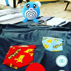 Poliwag projecting the swag! #pikachu pocket tees avalible - www.deadgent.com