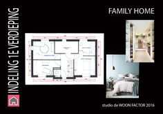 """INDELING 1e verdieping particulier project """"FAMILY HOME""""."""
