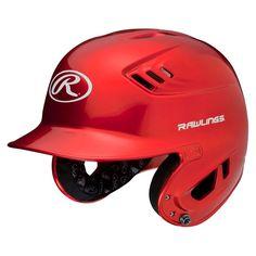 Rawlings R16 Series Metallic Helmet Jr - Scarlet (6 3/8 - 7 1/8), Red
